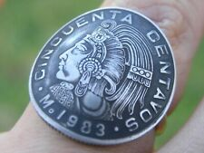 coin ring adjustable nice cool gift Mexican Cincuenta 1983 centavos various date