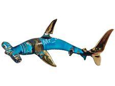 MINIATURE SHARK HAND BLOWN GLASS ART SHARK FIGURINE ANIMAL SOUVENIR GIFT