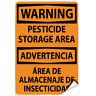 Warning Pesticide Storage Area Hazard Sign LABEL DECAL STICKER