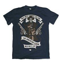 Cowboy mens t shirt wild west USA S-3XL