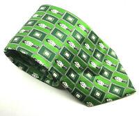 """BOY Le Gavroche Men's Tie Green 100% Silk 3.75"""" Width 60"""" Long"""