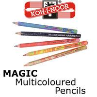 KOH-I-NOOR MAGIC COLOURED PENCILS - Jumbo pencils with multicoloured lead Art