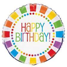 Arcoiris Fiesta Cumpleaños 45.7cm Globo metalizado Happy Birthday (Decoración)