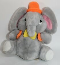 Vintage 1981 Applause Plush Elephant Stuffed Animal Ingrid