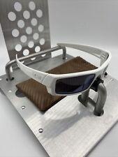 ☀️Oakley Gascan S Vintage Sunglasses White Frame Gray Lens Fast Free S/H