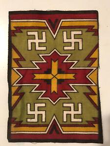 Antique 1900s American Indian Native Swastika  Cigar Felt Tobacco Whirling Log