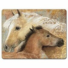 Large Tempered Glass Cutting Board-Horses-Run Wild #037