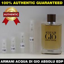 Giorgio Armani Acqua Di Gio Absolu EDP 2ml 3ml 5ml 10ml DECANT VIAL