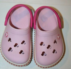 Crocs 7 toddler Girl's Mickey Minnie Mouse Crocband III  Pink Color