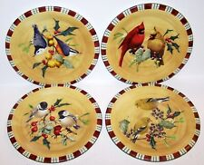 """LOVELY SET OF 4 LENOX WINTER GREETINGS EVERYDAY 8 1/2"""" SALAD PLATES WITH LABELS"""
