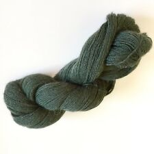 100/% Luxurious Baby Alpaca Wool//Yarn Melange Green M651 DK 50g knitting crochet