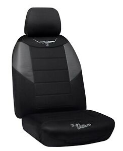RM Williams Mesh Black Seat Cover Fits Toyota, Holden, Mazda, Nissan And More