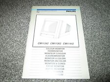 Philips Colour Monitor Manual CM11342 CM11362 CM11442 Amiga etc
