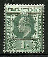 Album Treasures Straits Settlement Scott # 93  1c Edward VII Mint Hinged