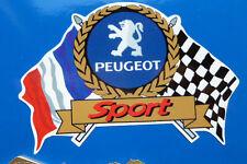 PEUGEOT SPORT Flags & Scroll classic car sticker 205 306 207 307 GTi Rallye etc