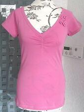 Neu niedliches T-Shirt  von Tamaris Gr.34 - 36  rosa mit Blüten Verzierung