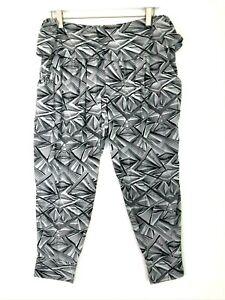Zumba xlovely printed geometric jogger pants grey black size xl pockets