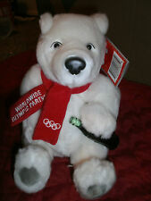 WORLDWIDE OLYMPIC PARTNER PLUSH POLARBEAR WITH A COKE AND RED SCARF