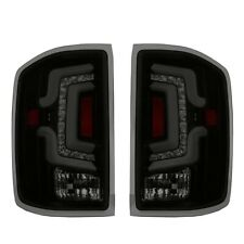Fit 15-18  Silverado 1500 2500HD 3500HD White Streak Led Tail Lights Black/Smoke