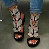 Sandalen für Frauen Summer Slippers Schuhe mit Rhinstone Ladies Gladiator