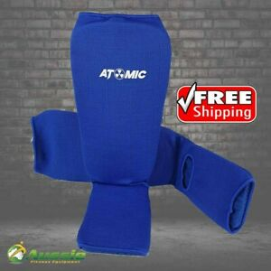 Atomic Boxing Kick Boxing Muay Thai Shin Instep Pads Commercial Quality