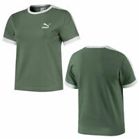 Puma Classics Tight T7 Womens T-Shirt Top Short Sleeved Tee Khaki 576509 23 R14K