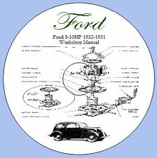 Ford 8 HP et 10 HP Modèles populaires, Anglia, préfet 1932-1951 workshop manual
