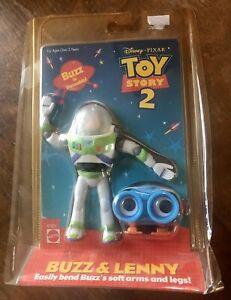 Mattel Toy story 2 Poseable  Buzz And Lenny Disney Pixar 2000 MOC