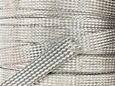 25 FEET 1/2 BRAIDED BRAID STAINLESS  EXPANDABLE SLEEVE WIRE HARNESS LOOM