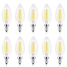 10 PACK E14 Small Screw 4W Edison Filament LED Chandelier Candle Light Bulb Lamp