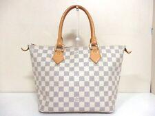 Authentic LOUIS VUITTON Damier Saleya PM N51186 Azur Handbag VI1077