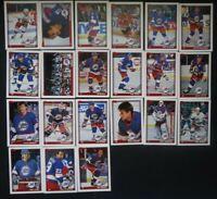 1991-92 Topps Winnipeg Jets Team Set of 21 Hockey Cards