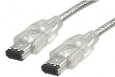 Firewire Cable Lead Digital Camera Camcorder DV HDD 6-pin to 6-pin Silver
