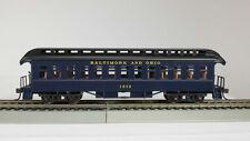 HO 1880's Baltimore & Ohio (Blue-Matches Bachmann Loco) Coach Car (1-000234)