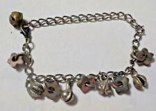 "Vintage 8"" Star Beads & Silver Tone Charm Bracelet"