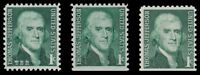 1278 1278a 1278av Jefferson 1c Prominent Americans Variety Set 3 MNH - Buy Now