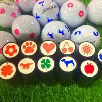 1pc Plastic Quick-dry Golf Ball Stamp Stamper Marker Seal New Impression M7U8