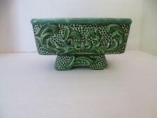 Vintage Chinese Ceramic Planter- Mid Century 3D Green Glazed Rectangular Planter