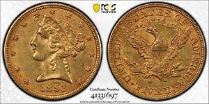 1893-O Liberty Head Gold $5 Half Eagle PCGS AU53 Gold Shield New Orleans Mint