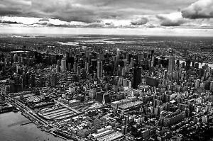 A0 size canvas print New york city USA  old photo vintage cityscape