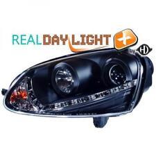 Guida a Sinistra Proiettore Led DRL Fari Coppia Xenon Trasparente Nero per VW