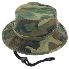 Mens Boonie Bucket Hat Cap 100% Cotton Fishing Military Hunting Safari Hiking