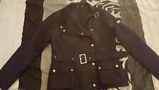 womens black quilted Barbour Jacket size 10