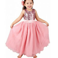 Toddler Girl Lace Sequin Tutu Dress Sleeveless Party Wedding Princess Gown 2-8 Y