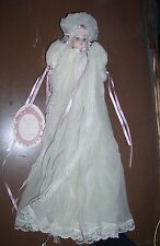 "BABY CERAMIC DOLL ELSIE MASSEY ORIGINALS LIMITED EDITION ""Dana"" 1024/5000 DRESS"