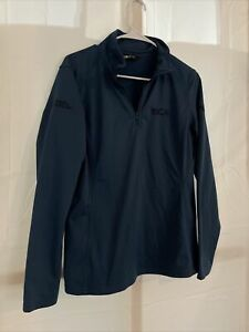 The North Face 1/4 Zip Pullover Boston Scientific BCA Blue Long Sleeve Shirt L