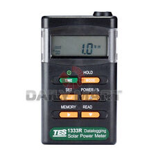 NEW Solar Power Meter TES-1333R Radiation Detector Tester with Data Logging