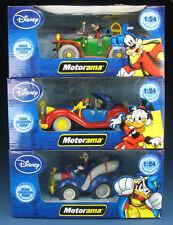 3x Motorama Modellauto - mit Goofy, Phamtomias, Dagobert Duck - 1:24 -NEU Disney