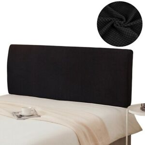 Solid Checked Bedside Cover Modern Bedside Dust-Proof Elasticity Protective