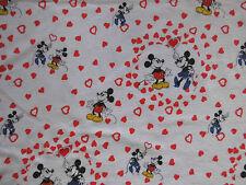 Mickey Minnie Mouse Bettwäsche vintage 80er Disney fabric bedding Micky Maus 80s